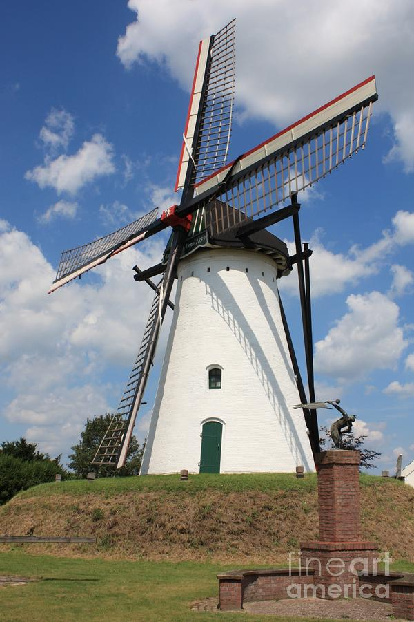 Windmill And Blue Sky Photograph