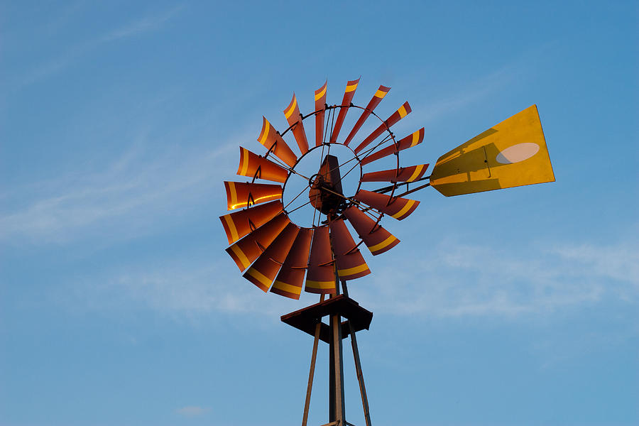 Windmill At Sunset Photograph