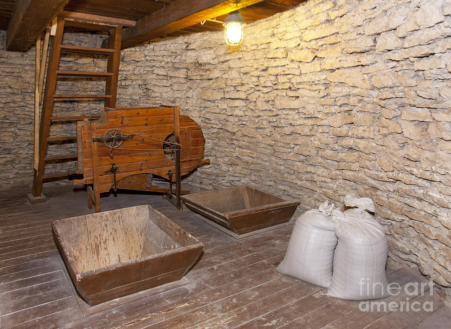 windmill interior with stone walls photograph by jaak nilson