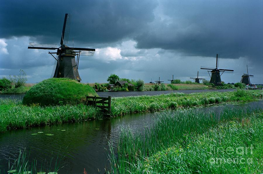 Windmills Of Kinderdijk  Photograph  - Windmills Of Kinderdijk  Fine Art Print