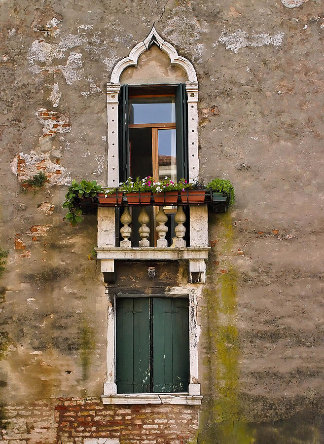 Window Art Venice Photograph  - Window Art Venice Fine Art Print