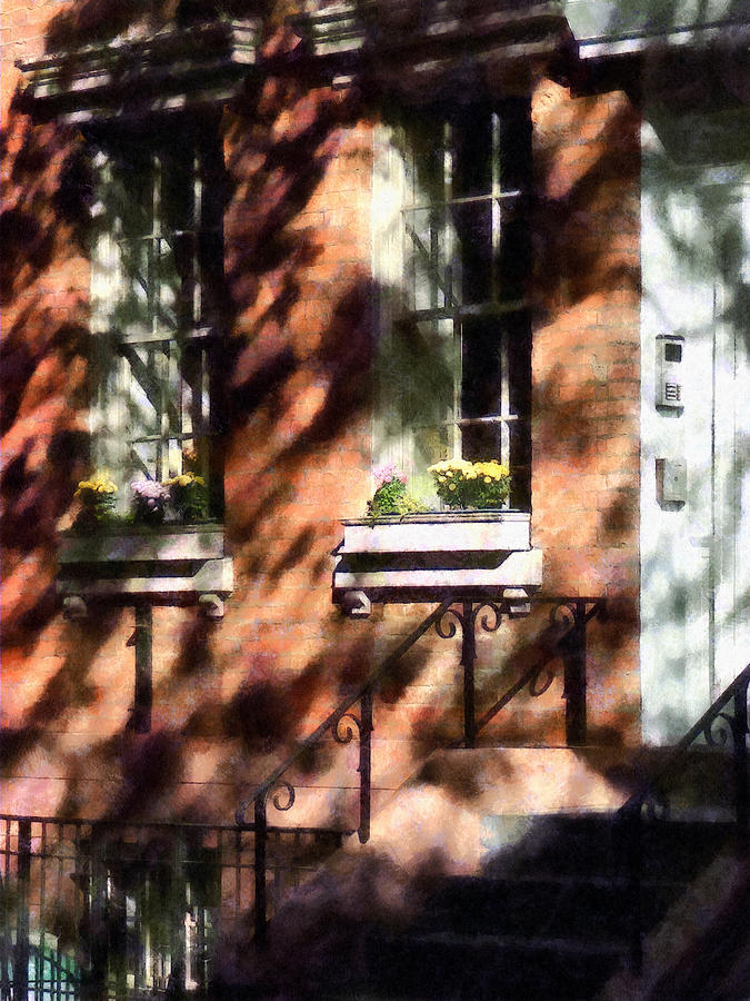 Window Box Photograph - Window Boxes Greenwich Village by Susan Savad