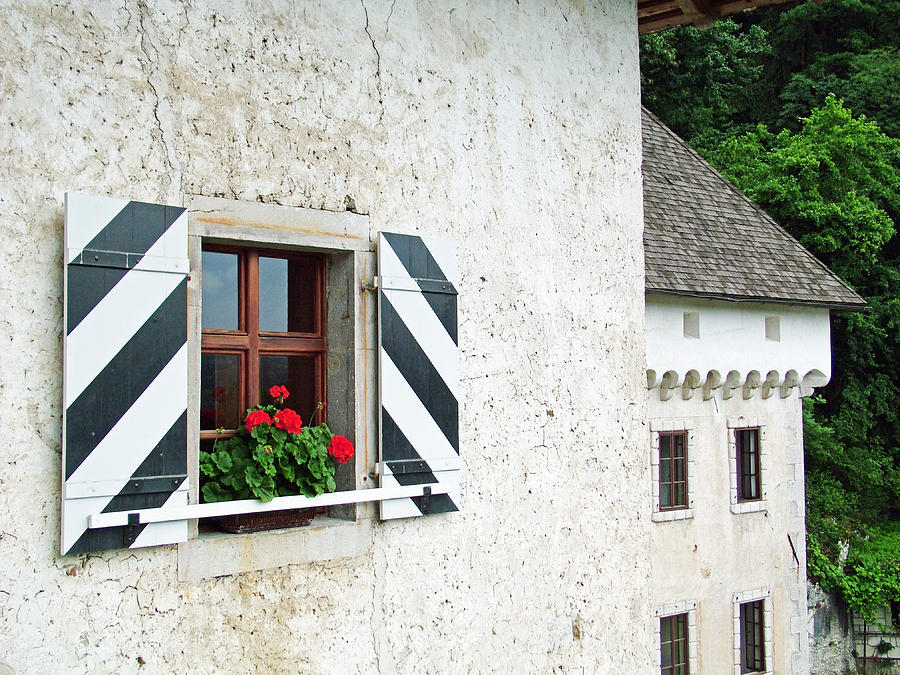 Window Ledge Predjama Castle Predjama Slovenia Photograph  - Window Ledge Predjama Castle Predjama Slovenia Fine Art Print