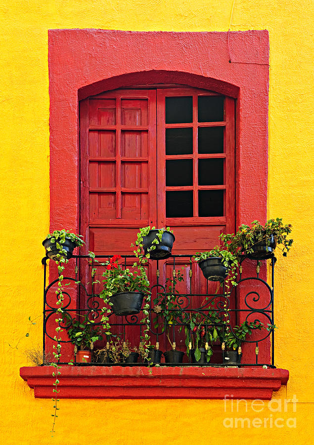 Window On Mexican House Photograph