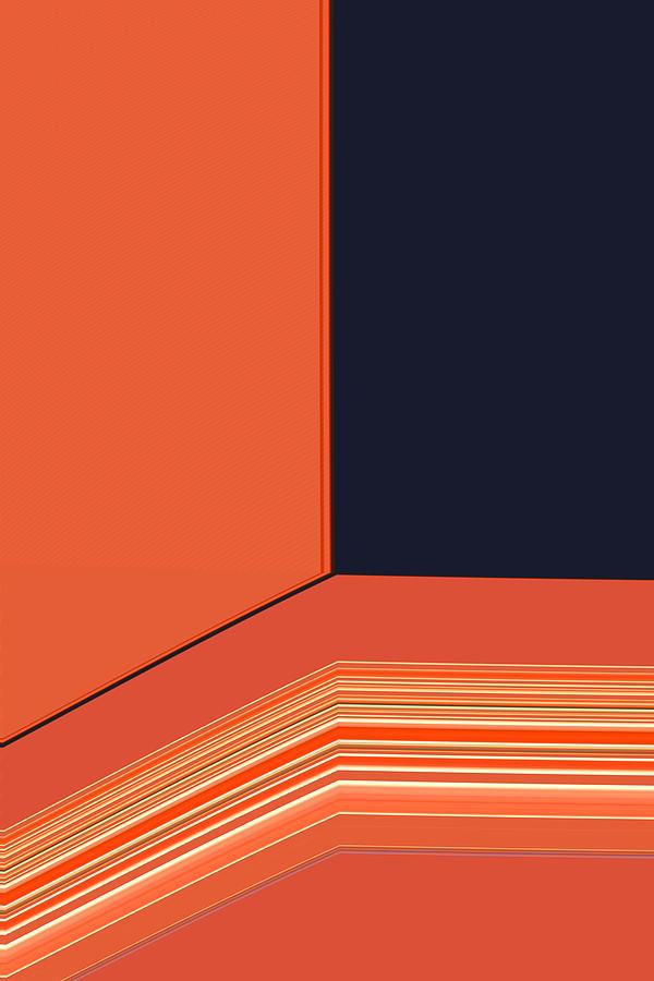 Tangerine Digital Art - Window Seat by Bonnie Bruno