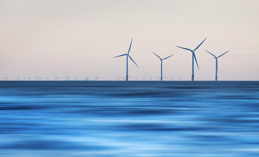Windturbines, Burbo Bank, Crosby Photograph  - Windturbines, Burbo Bank, Crosby Fine Art Print