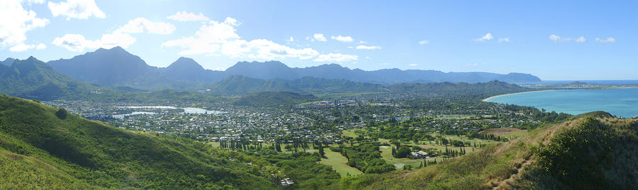 Windward Oahu Panorama I Photograph  - Windward Oahu Panorama I Fine Art Print