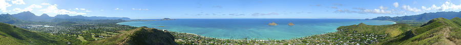 Windward Oahu Panoramic Photograph  - Windward Oahu Panoramic Fine Art Print
