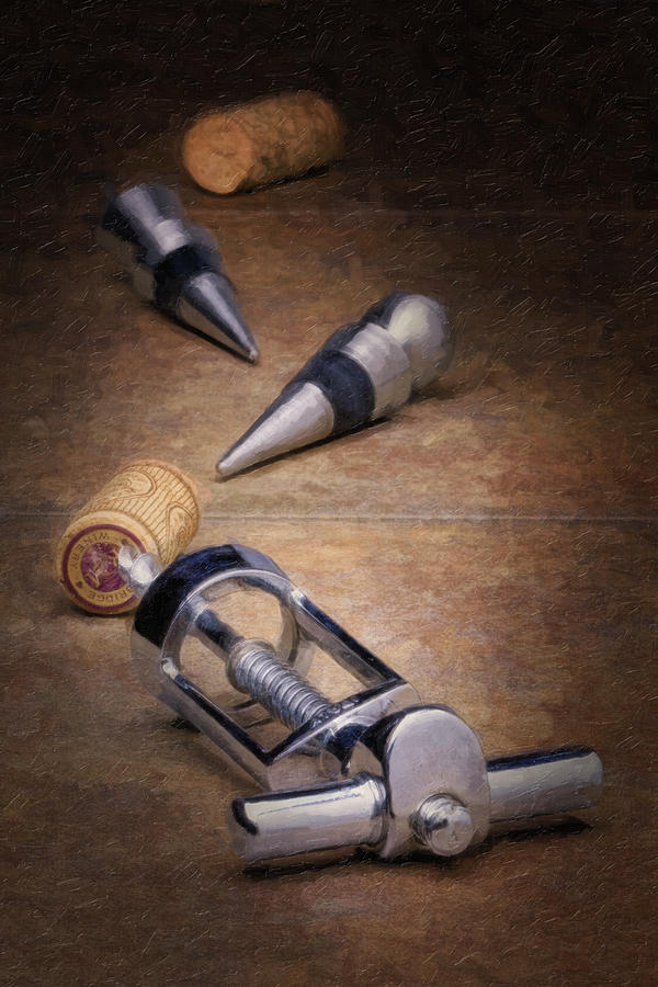 Wine Accessory Still Life Photograph  - Wine Accessory Still Life Fine Art Print