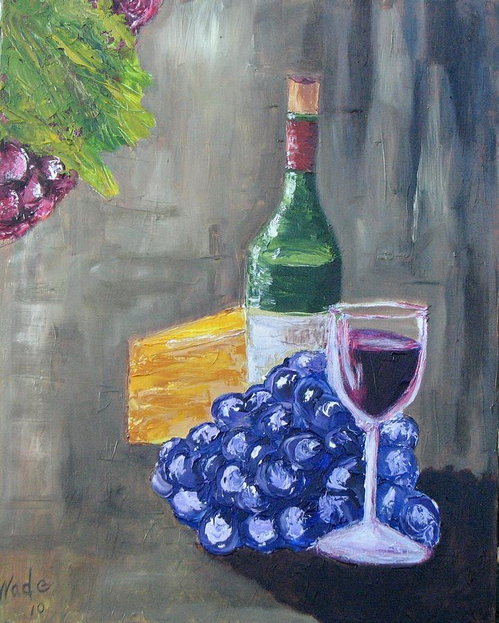 Wine And Cheese Painting  - Wine And Cheese Fine Art Print