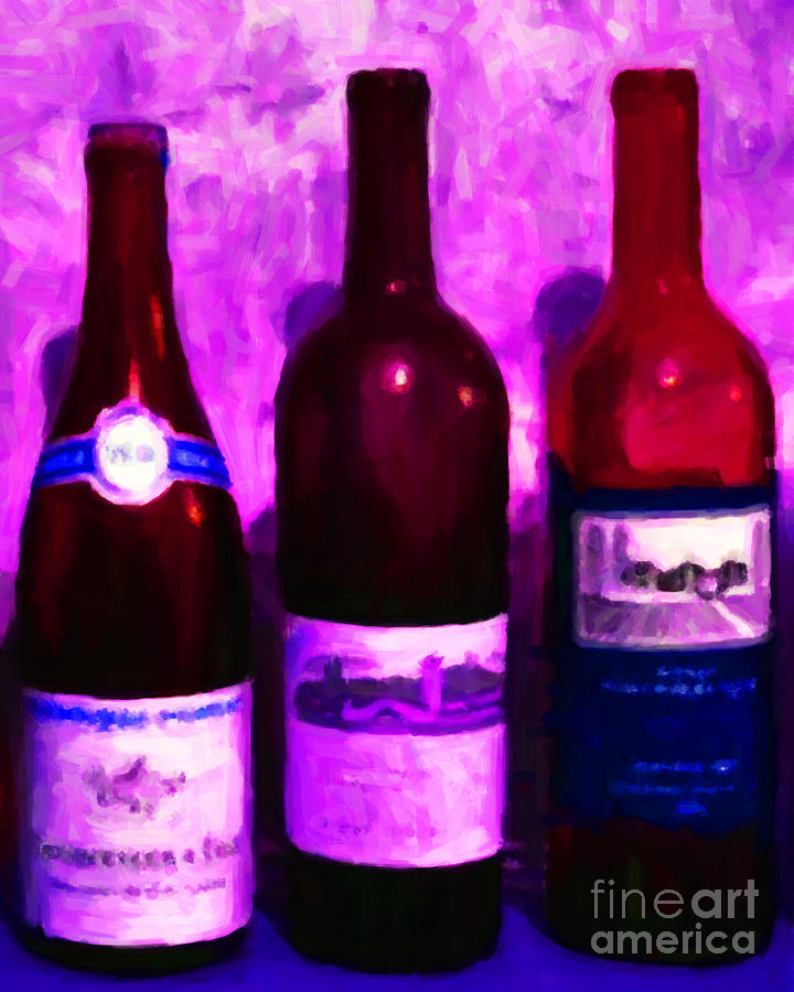 Wine Bottles - Study 5 Photograph  - Wine Bottles - Study 5 Fine Art Print