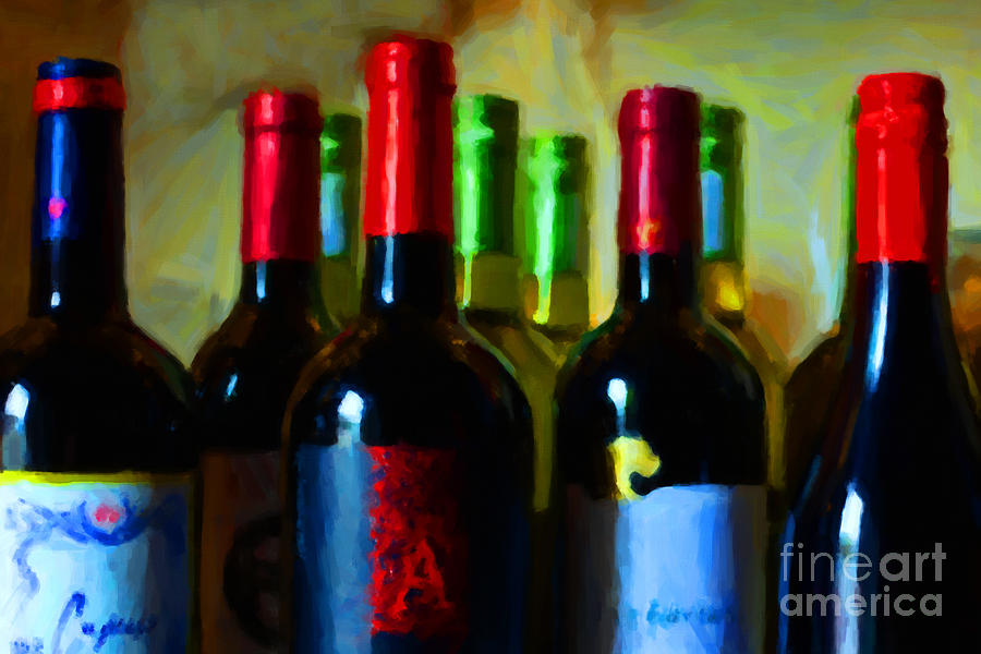 Wine Bottles - Study 8 Photograph  - Wine Bottles - Study 8 Fine Art Print