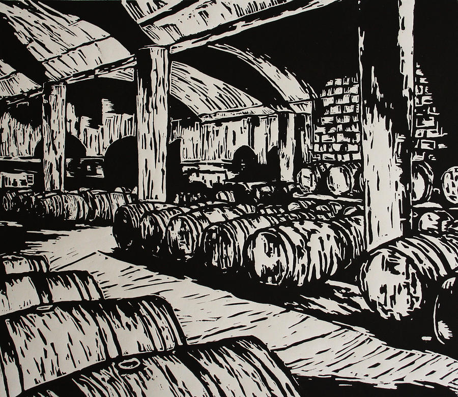 Wine Cellar Drawing  - Wine Cellar Fine Art Print
