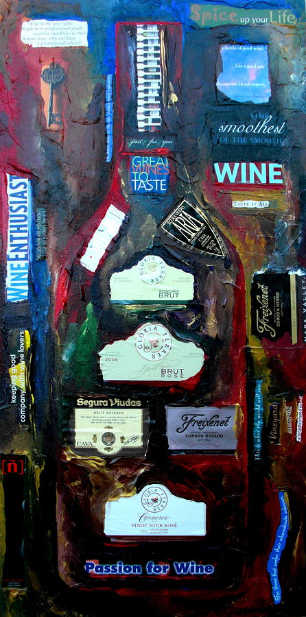 Wine Enthusiast Painting