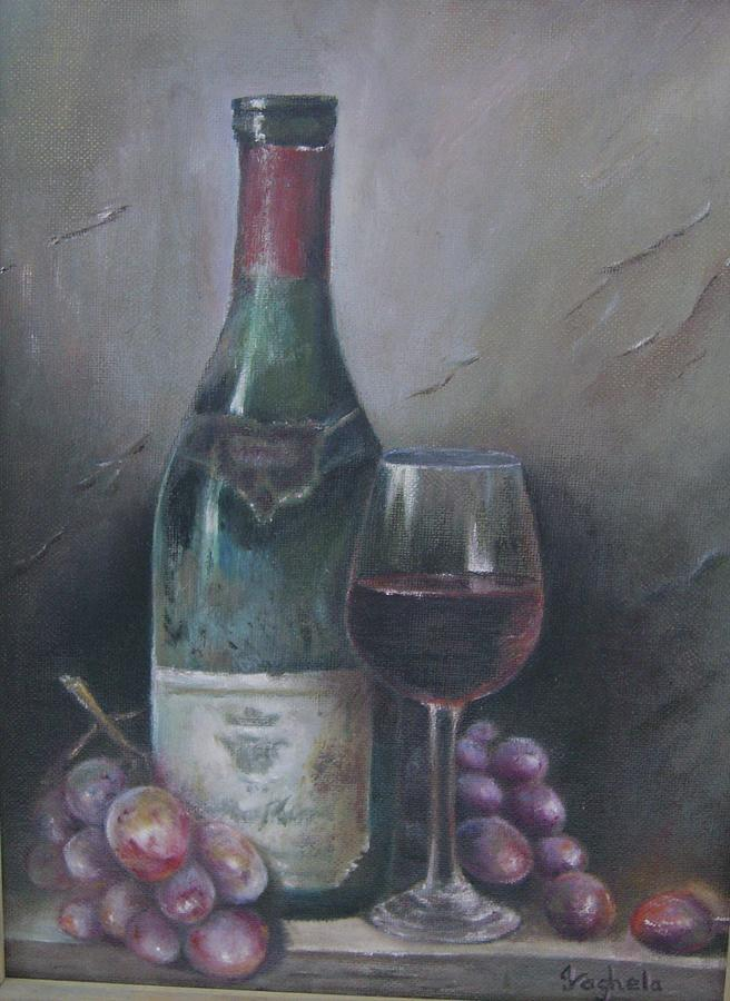 Wine Glass Painting  - Wine Glass Fine Art Print