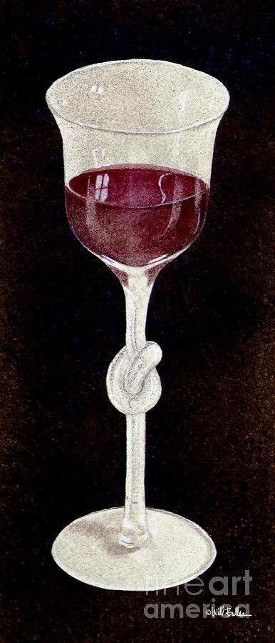 Wine Knot... Painting  - Wine Knot... Fine Art Print