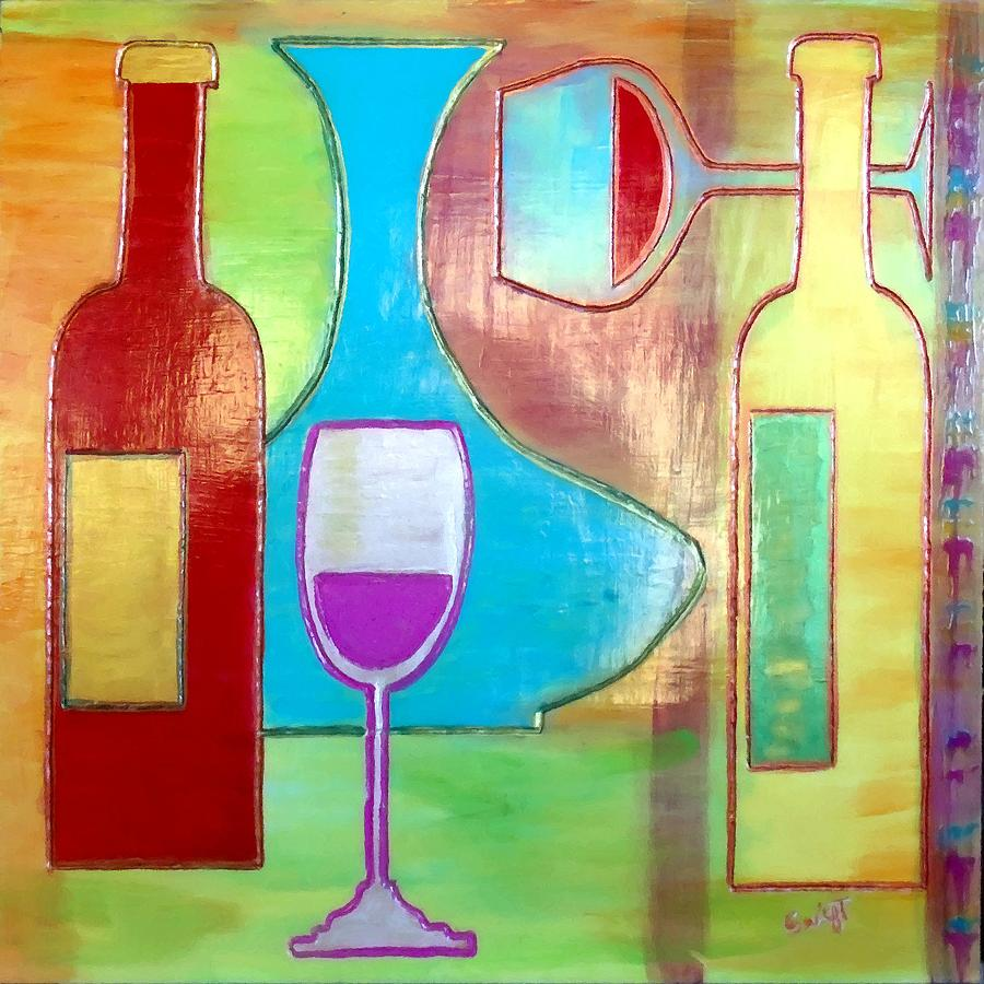 Wine Painting - Wine Tasting by Char Swift