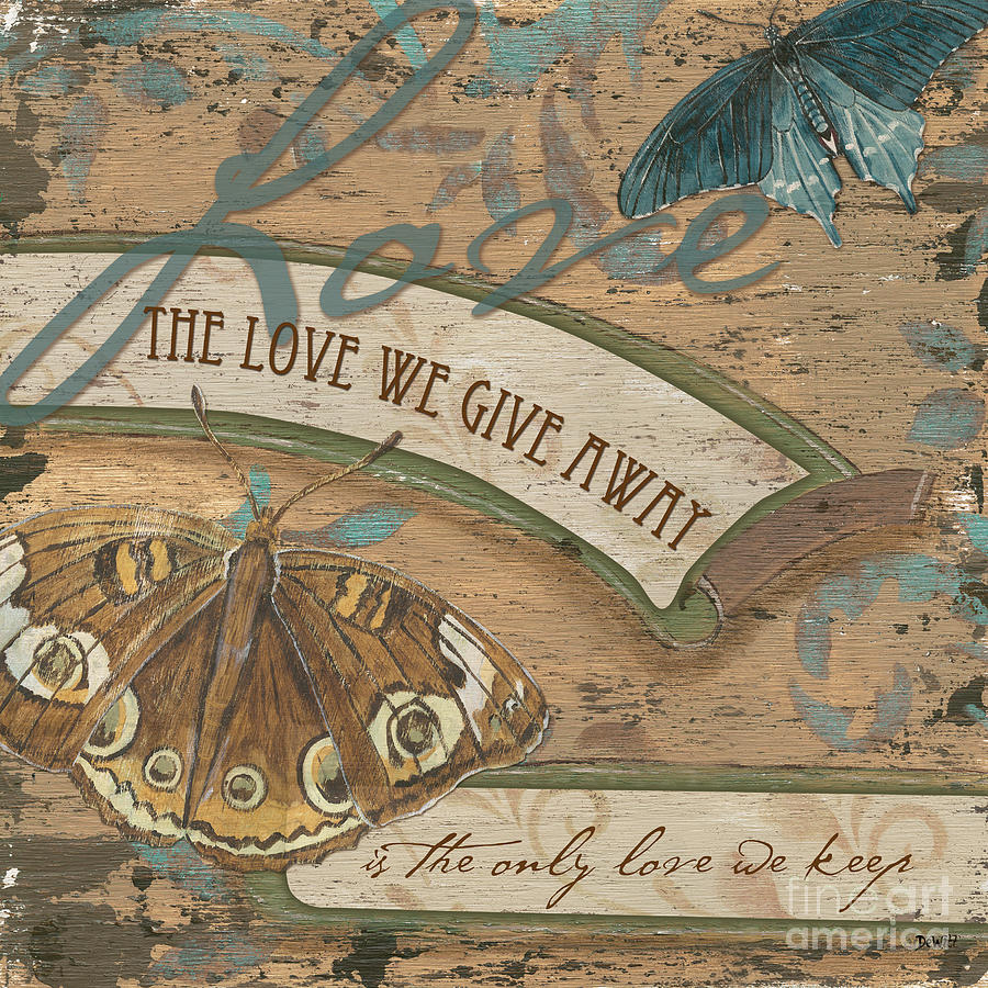 Wings Of Love Painting  - Wings Of Love Fine Art Print