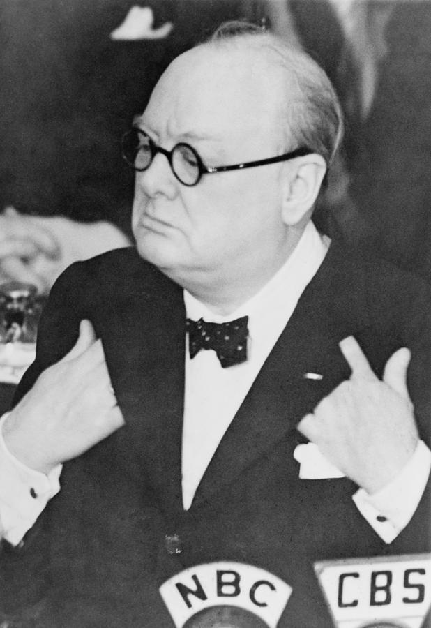 History Photograph - Winston Churchill 1874-1965 by Everett
