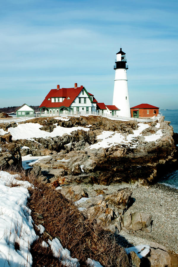 Winter At Portland Head Photograph