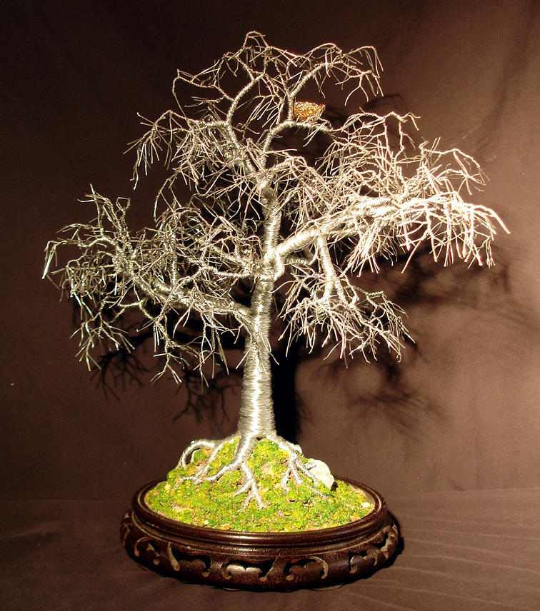 Winter Bird Nest - Wire Tree Sculpture Sculpture