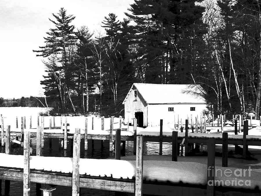 Winter Boathouse Photograph