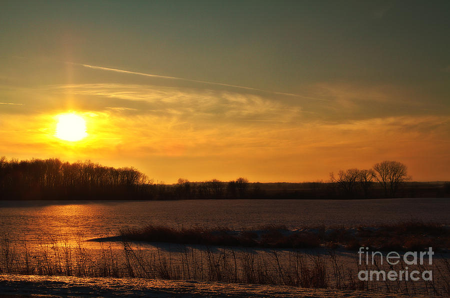 Winter Country Sunset Photograph  - Winter Country Sunset Fine Art Print