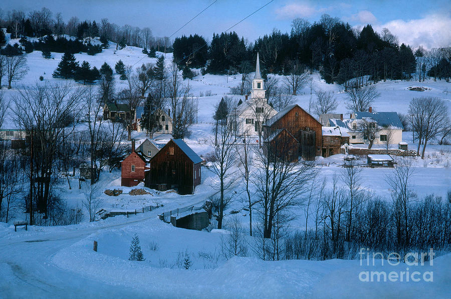 Winter Countryside Photograph By Photo Researchers