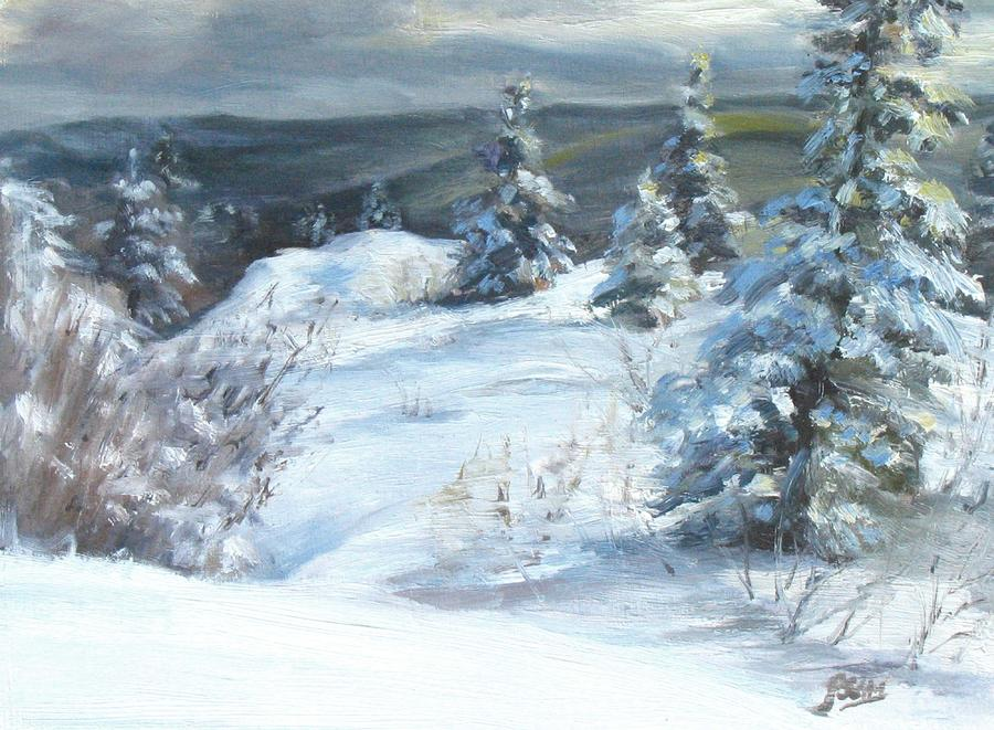 Winter Painting - Winter Escape by Patricia Seitz