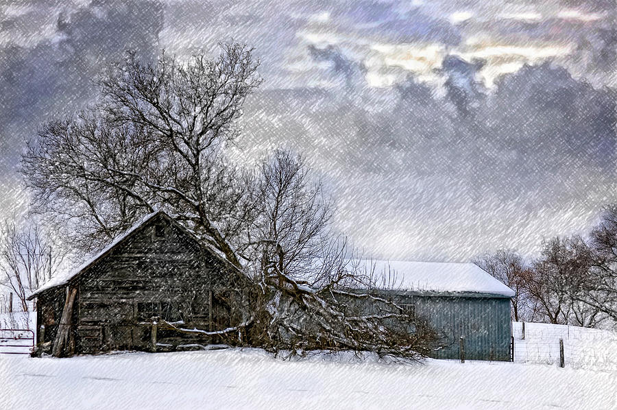 Winter Farm Photograph  - Winter Farm Fine Art Print
