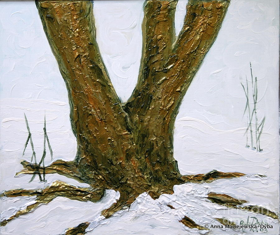 Winter In Brooklyn Botanic Garden Painting  - Winter In Brooklyn Botanic Garden Fine Art Print