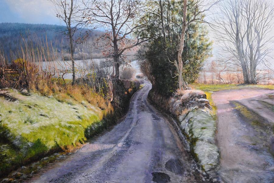 Winter In North Wales Painting