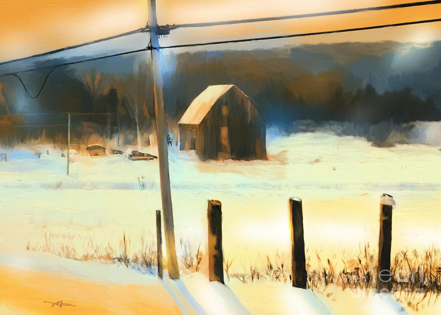 Winter In Powassan Ont. Painting