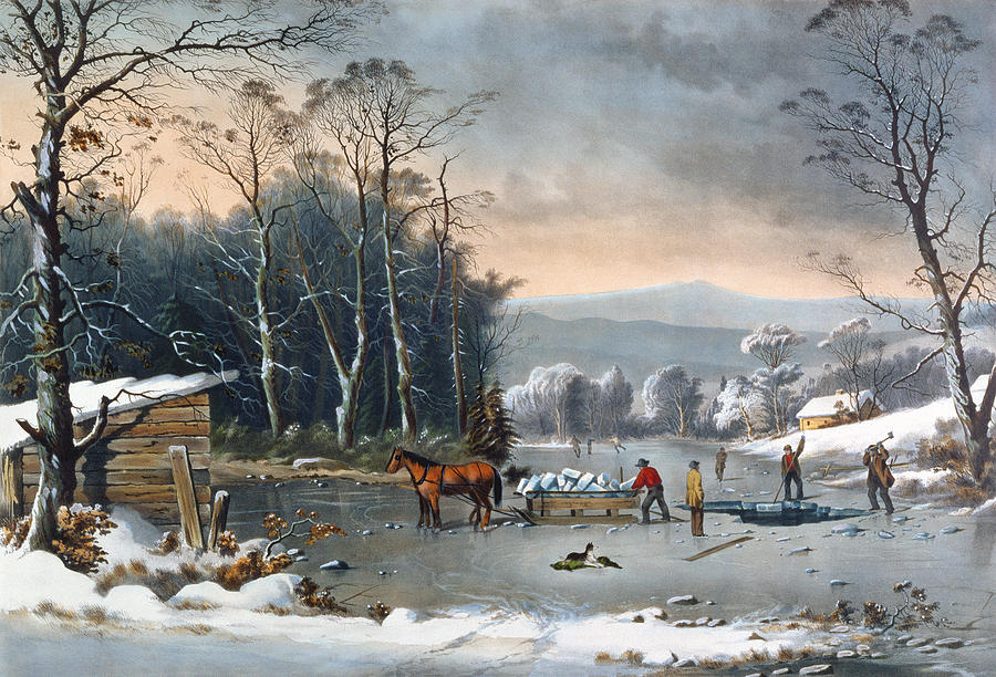 Winter In The Country Painting  - Winter In The Country Fine Art Print