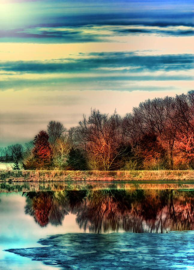 Winter Lake Fantasm Photograph  - Winter Lake Fantasm Fine Art Print