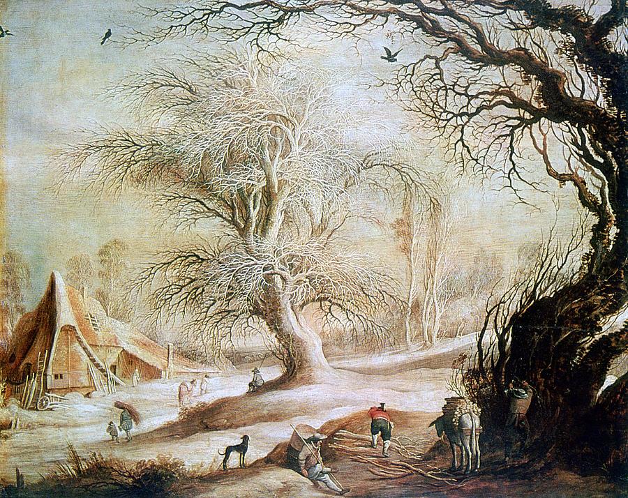 winter Landscape, 17th Century, Painting Photograph