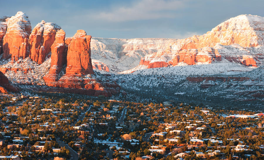 Winter light in sedona by carl amoth for Best places to visit in winter in usa