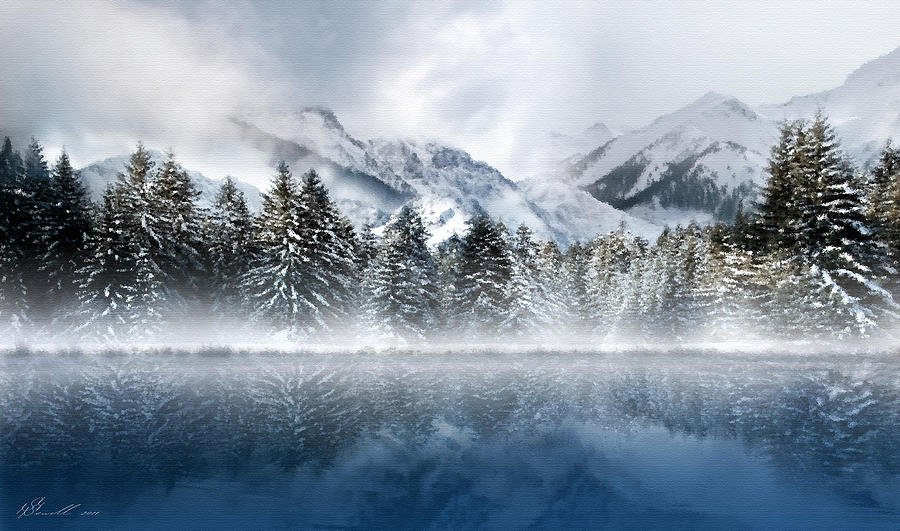 Beautiful Digital Art - Winter Mist by Svetlana Sewell
