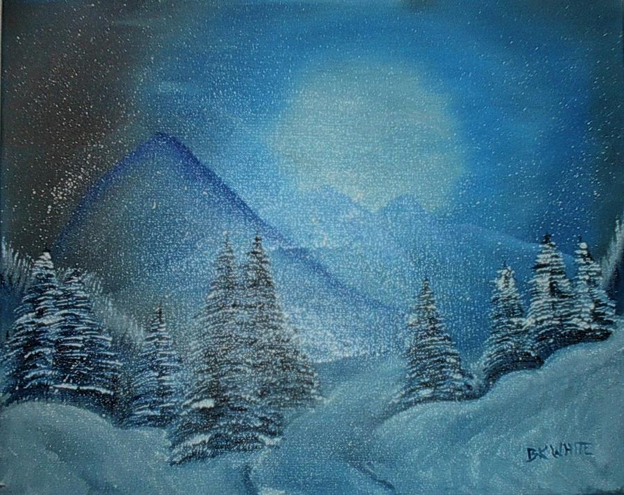 Winter Night Painting by Brian White