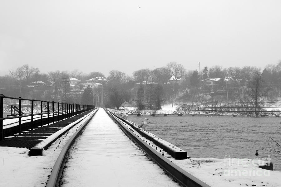 Winter Rails Photograph  - Winter Rails Fine Art Print