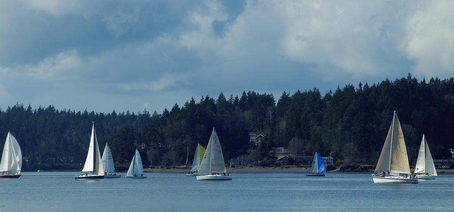 Winter Sailing In Puget Sound Photograph