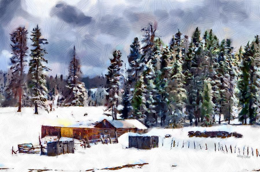 New Mexico Painting - Winter Seclusion by Jeff Kolker