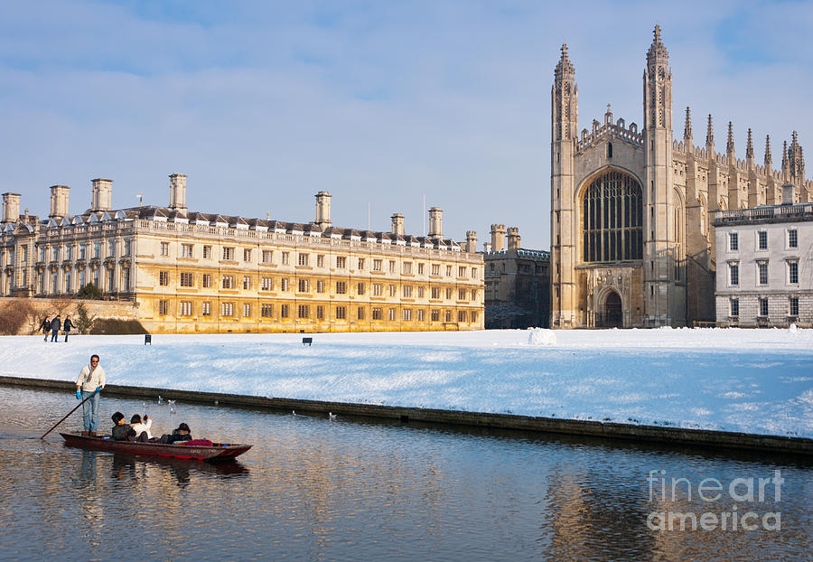 Anglia Photograph - Winter Snow At Kings by Andrew  Michael