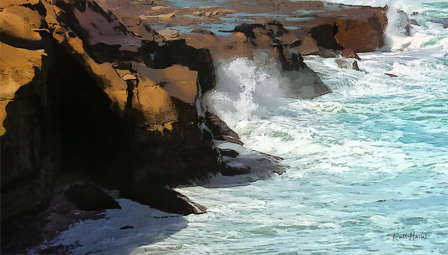 Winter Storm La Jolla Painting  - Winter Storm La Jolla Fine Art Print