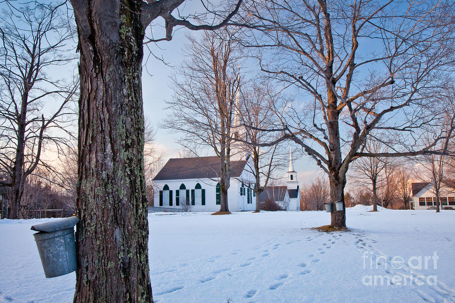 Winter Sunset In New Salem Photograph