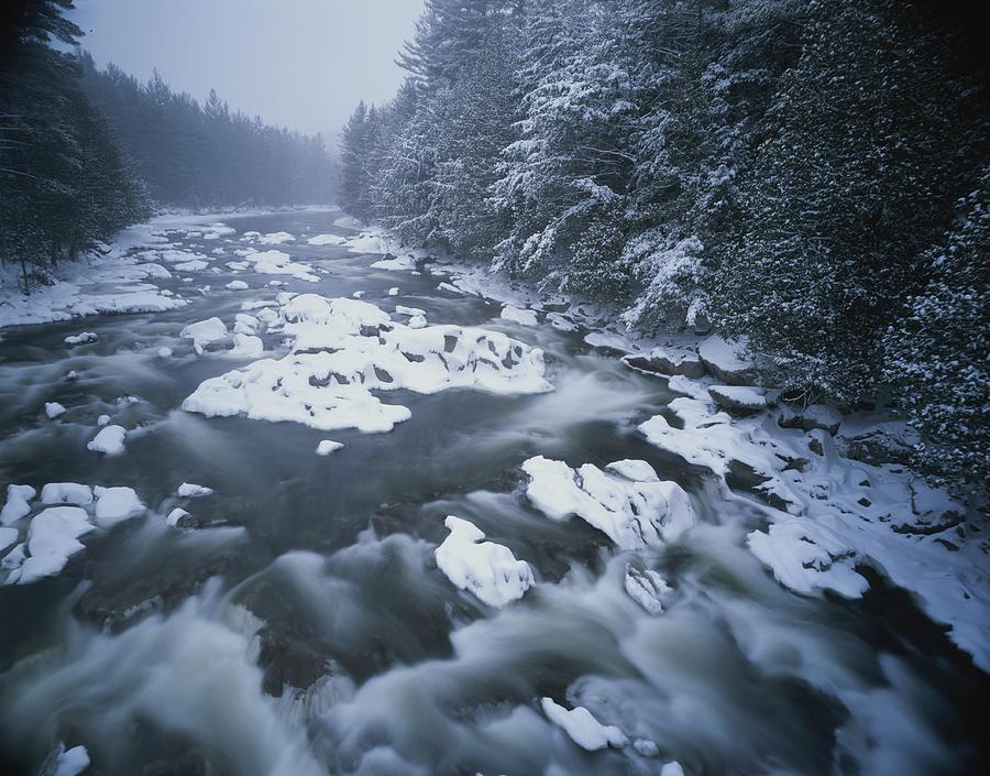 Winter View Of The Ausable River Photograph  - Winter View Of The Ausable River Fine Art Print