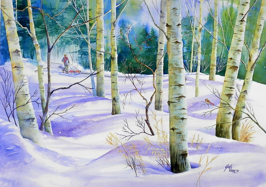 Winter Walk Painting