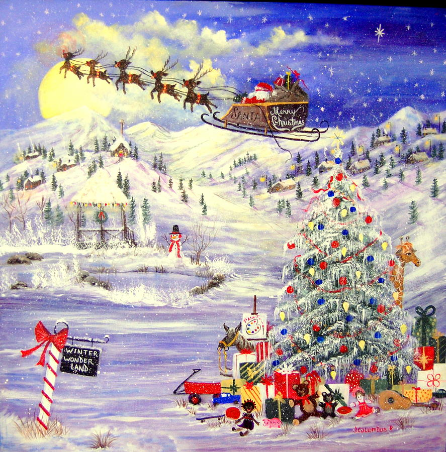 Winter Wonder Land Painting
