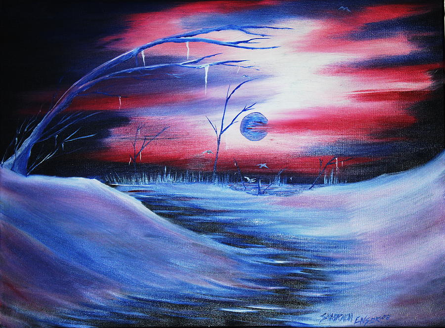 Landscape Painting - Winters Frost by Shadrach Ensor