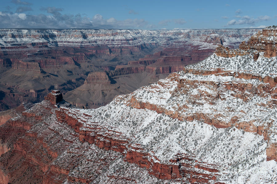 Winters Touch At The Grand Canyon Photograph  - Winters Touch At The Grand Canyon Fine Art Print